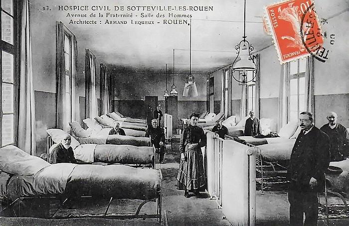 La Salle des Hommes (dortoir) de l'hospice de Sotteville-lès-Rouen