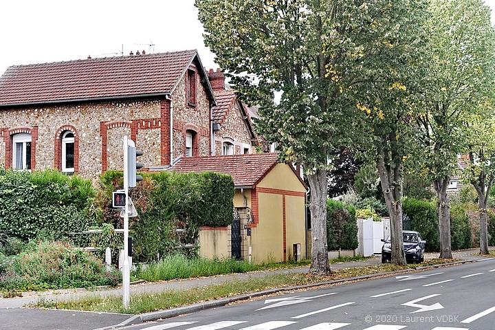Maisons qui ont été déplacées, rue de Paris à Sotteville-lès-Rouen