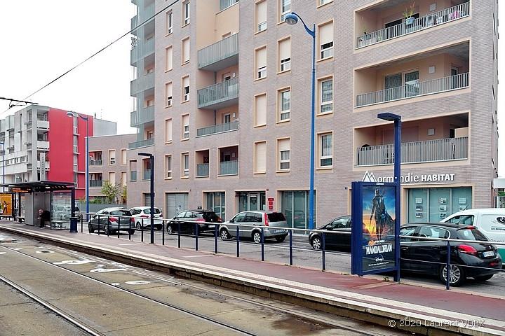 La station de métro Voltaire à Sotteville-lès-Rouen