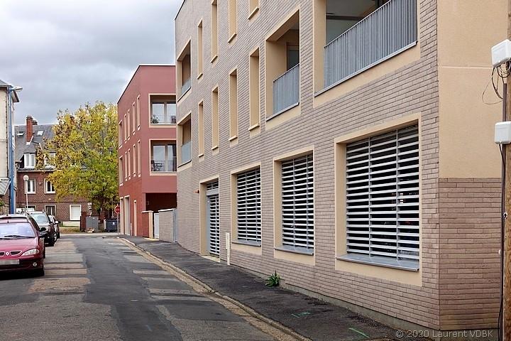Résidences Malafa Yousafzai et George Sand rue Bugnot à Sotteville-lès-Rouen