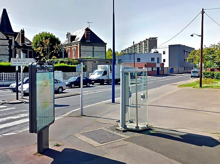 Angle rues Léon Salva et Pierre Corneille - Sotteville-lès-Rouen