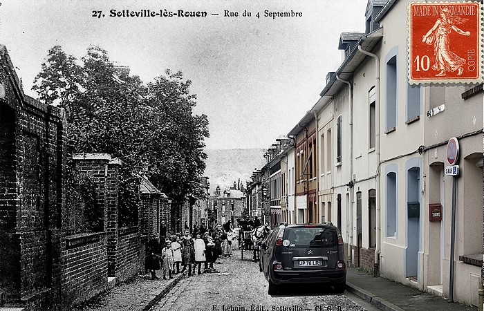 La rue du Quatre Septembre - Sotteville-lès-Rouen