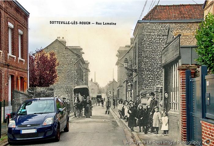 La rue Lemoine - Sotteville-lès-Rouen