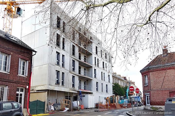 Construction de la résidence Denise Bloch à Sotteville-lès-Rouen