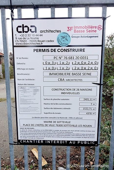 Permis de construire sur le terrain de Ineo à Sotteville-lès-Rouen