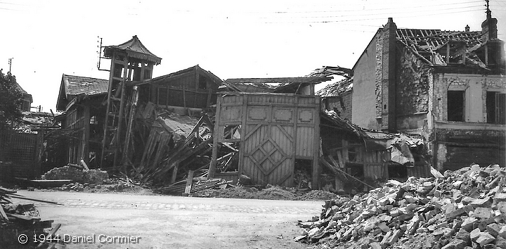 L'Eldorado détruit par le bombardement du 19 avril 1944 à Sotteville-lès-Rouen
