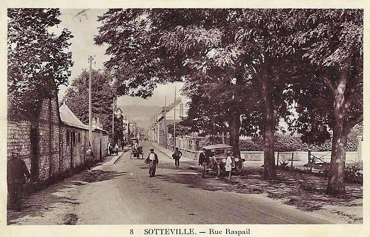 La rue Raspail, devenue av Jean Jaurès - Sotteville-lès-Rouen