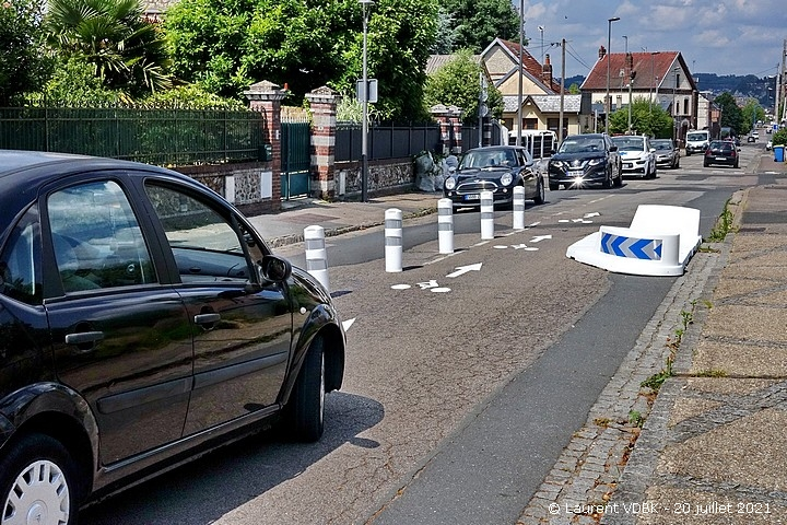 Chicane rue Léon Salva à Sotteville-lès-Rouen